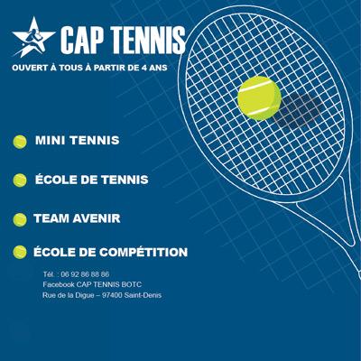 cap tennis affiche