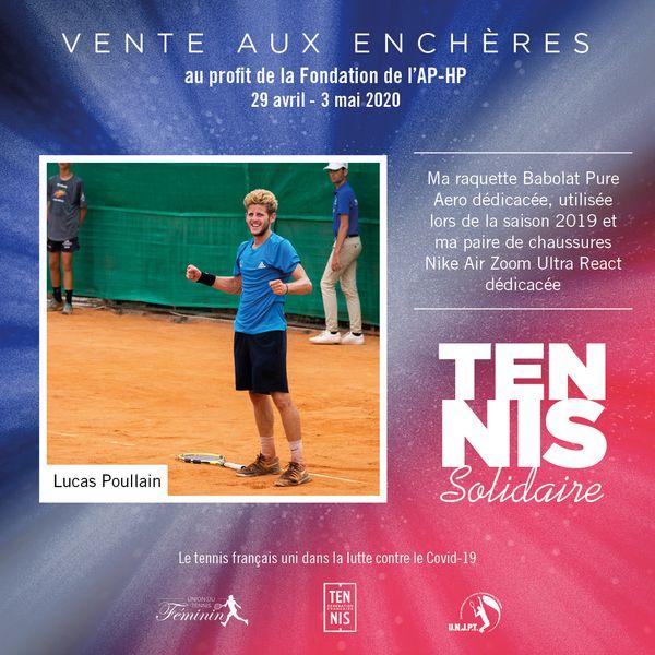 Tennis Solidaires vente aux enchères Poullain